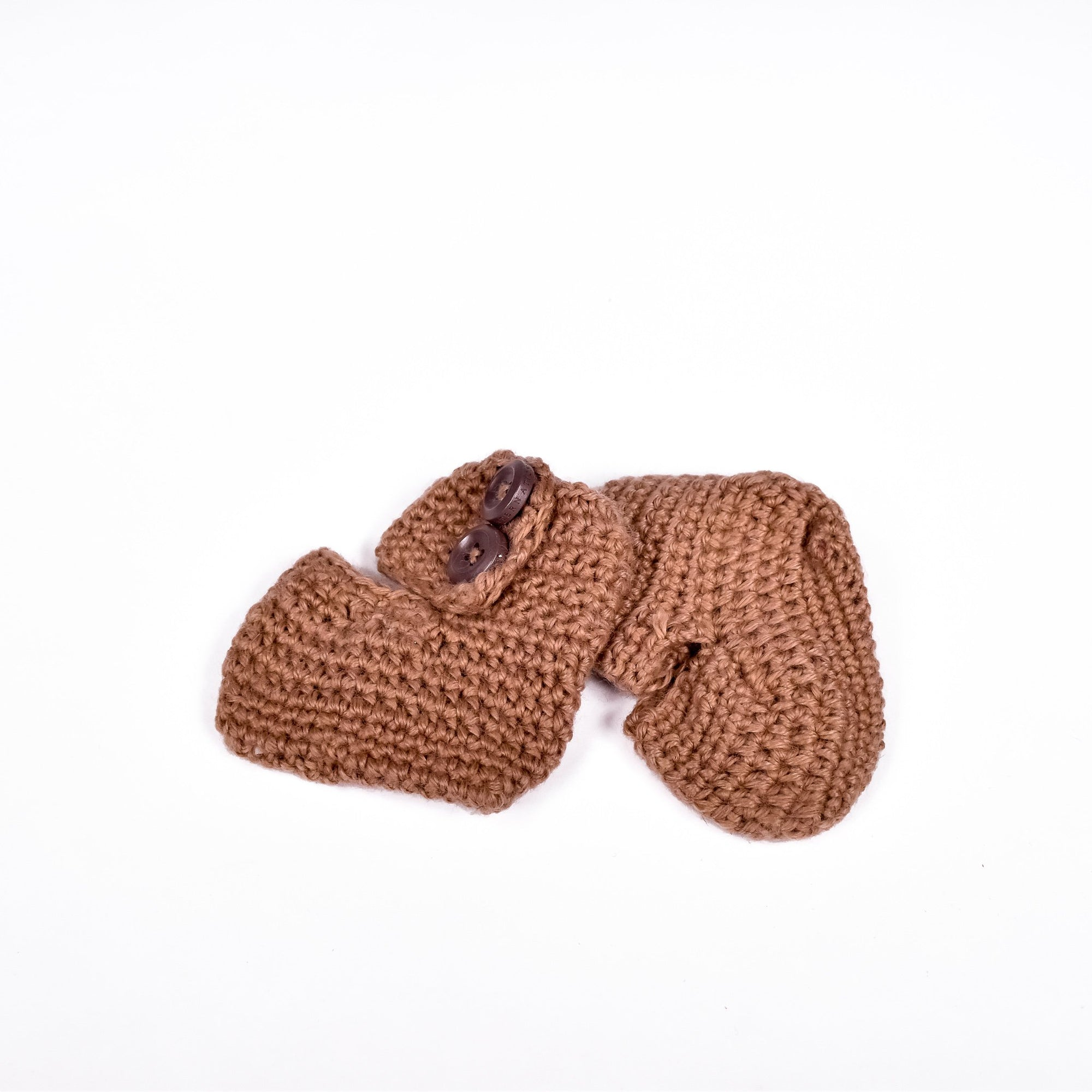 Brown Crochet Moccasins - Krochet Kids - Rug & Weave