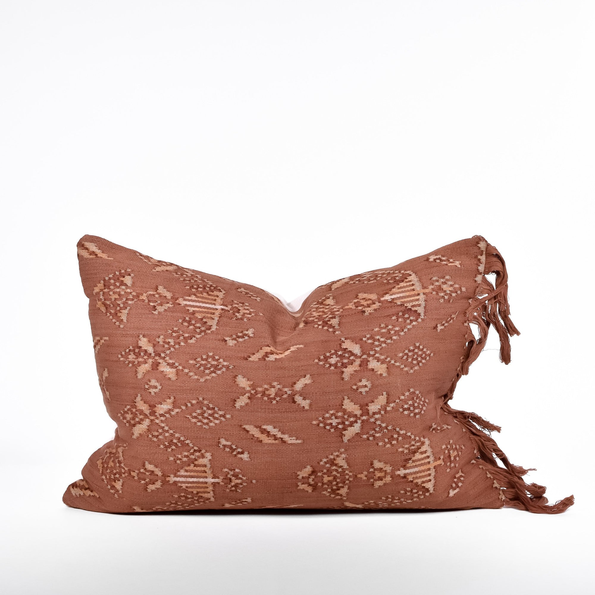 Cinnamon Ikat Pillow - Rug & Weave