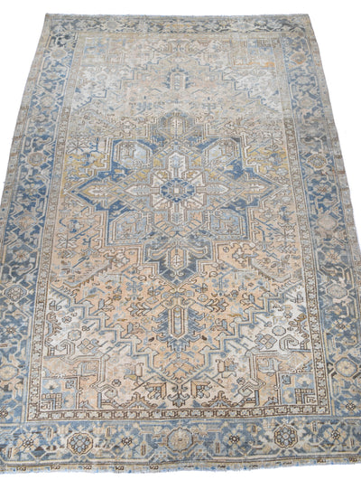 "Antique Heriz 6'11"" x 10'0"""