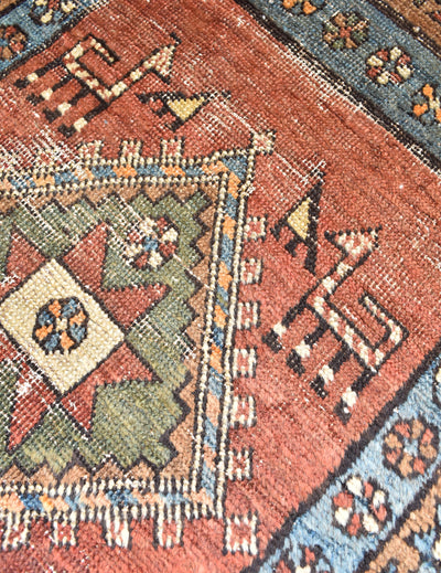 "antique Serapi 2'8"" x 10'6"" - Rug & Weave"