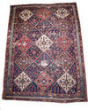 "antique Afshar 4'8"" x 6'5"""