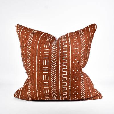 Rust Mudcloth Pillow - Rug & Weave