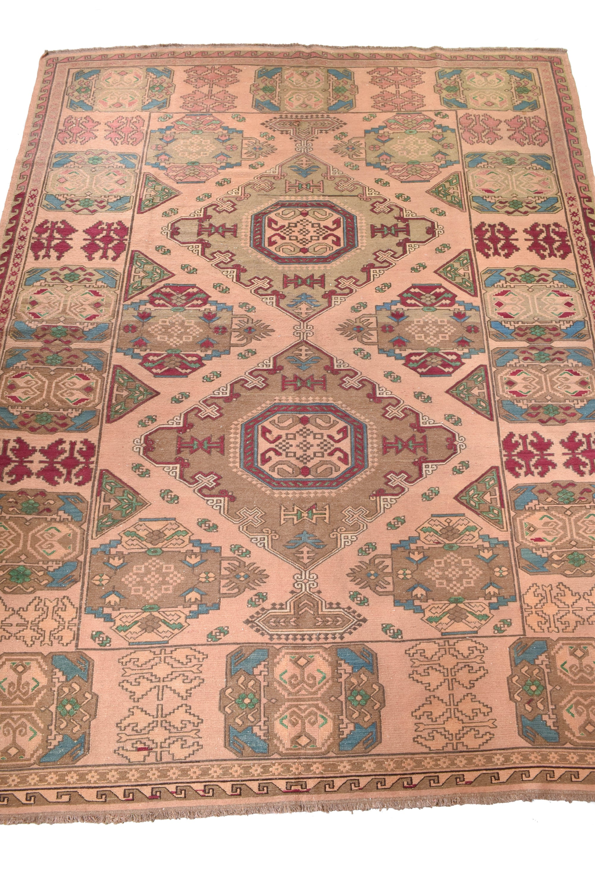 "Soumak antique rug 8'6"" x 10'8"" - Rug & Weave"