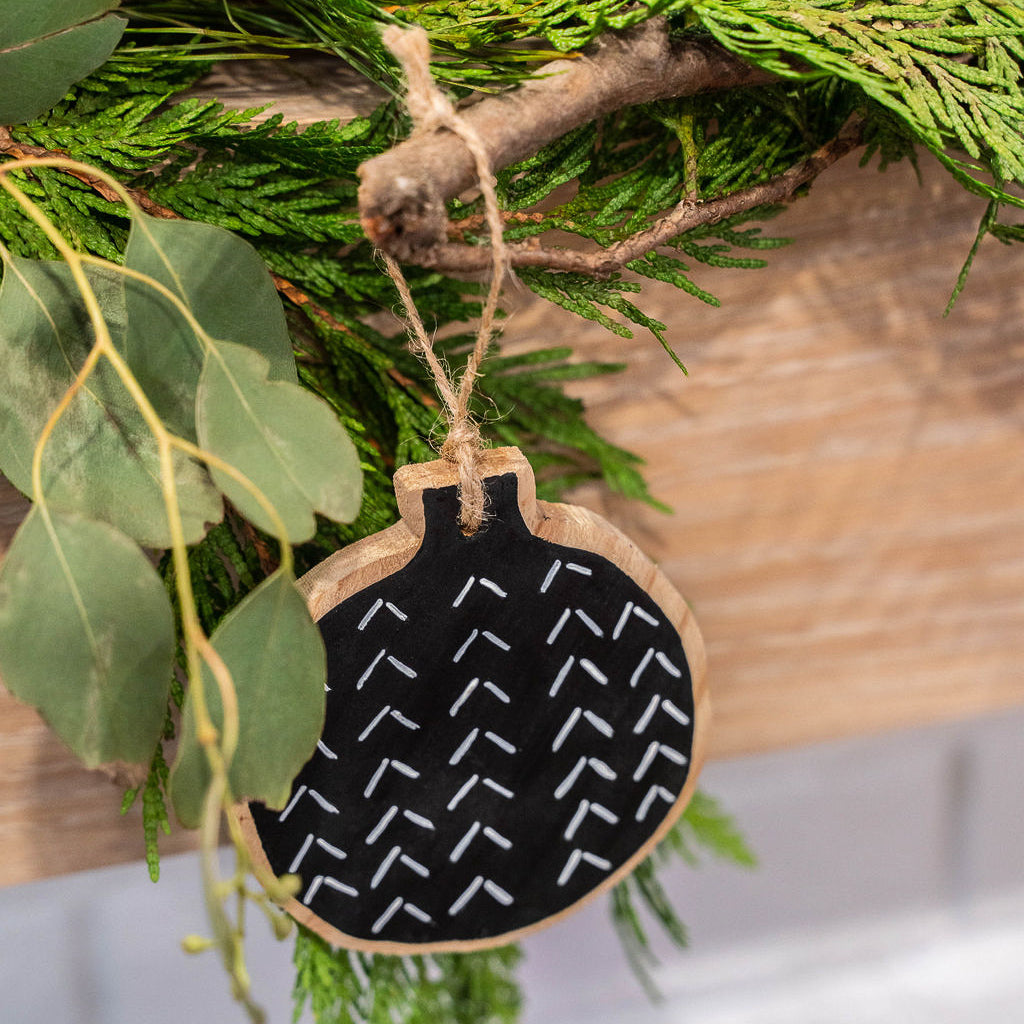 Hand Painted Mud Cloth Ornament