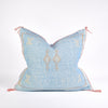 Light Blue Sabra Silk Pillow - Rug & Weave
