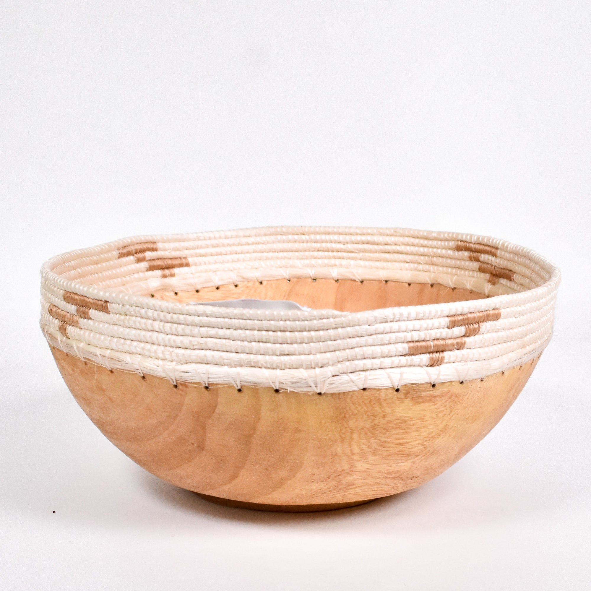 Large White Copabu Bowl - Rug & Weave