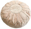 Natural Moroccan Leather Pouf