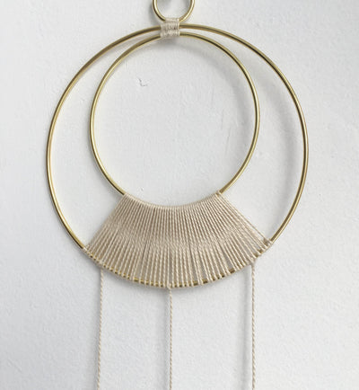 Brass Geometric Wall Hanging