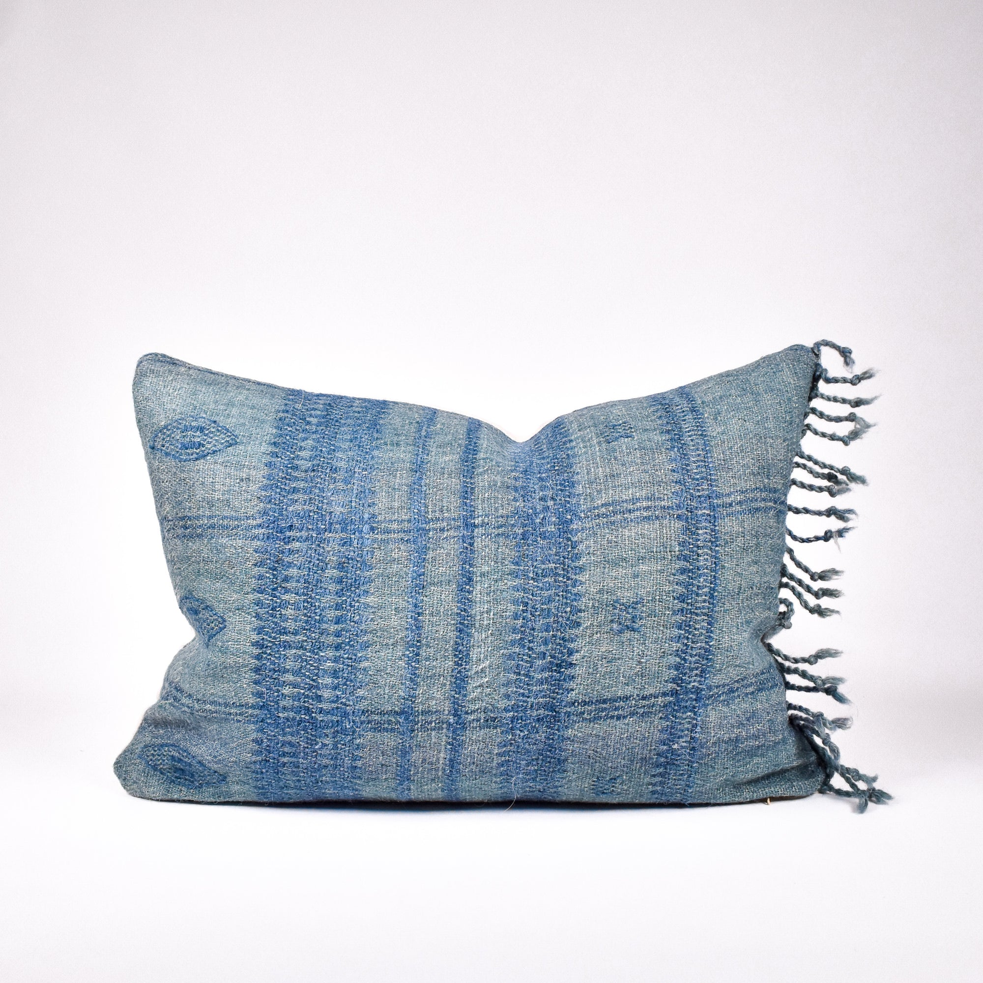 Teal Bhujodi Pillow - Rug & Weave