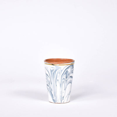 Grey & Gold Swirl Ceramic Cup