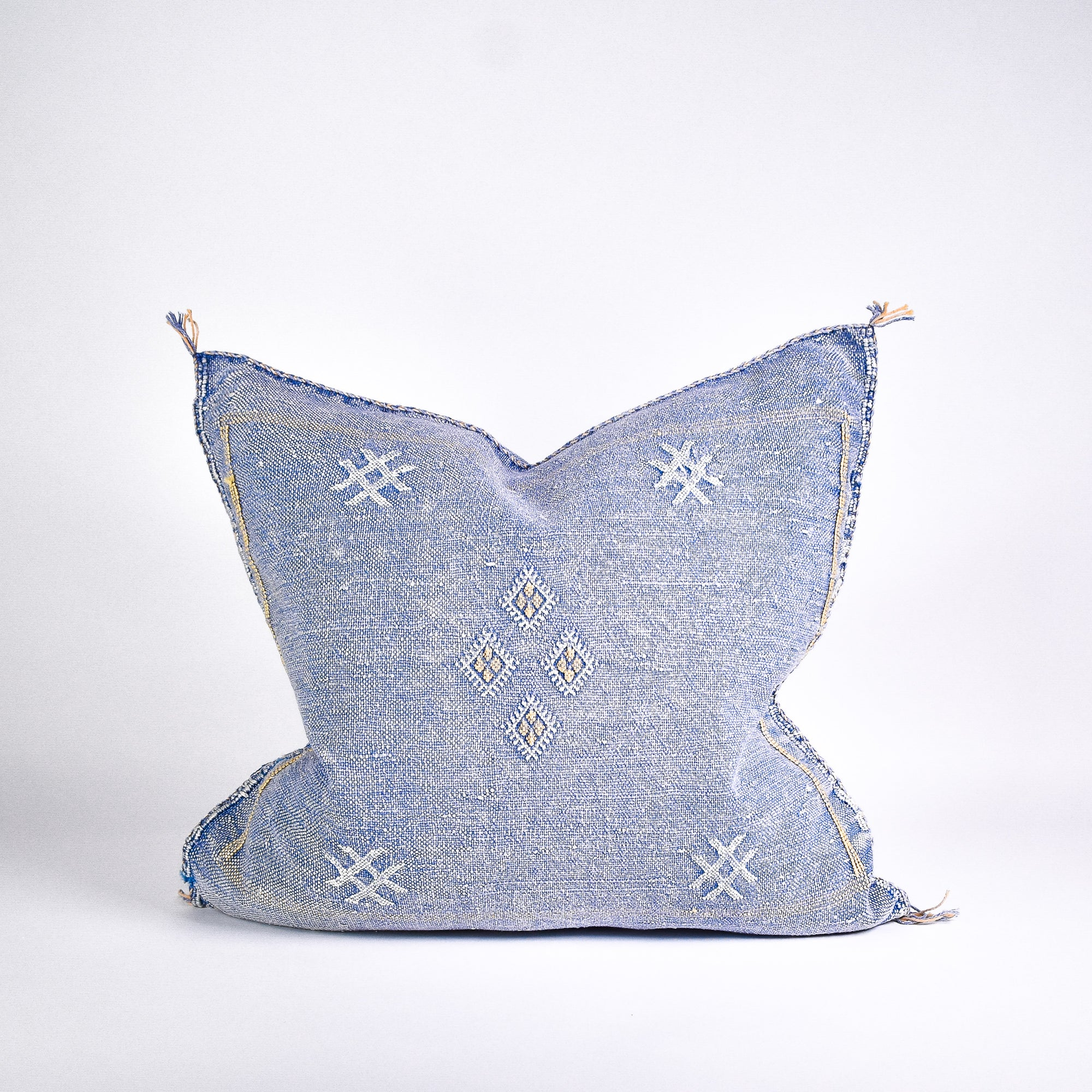 Blue Sabra Silk Pillow - Rug & Weave