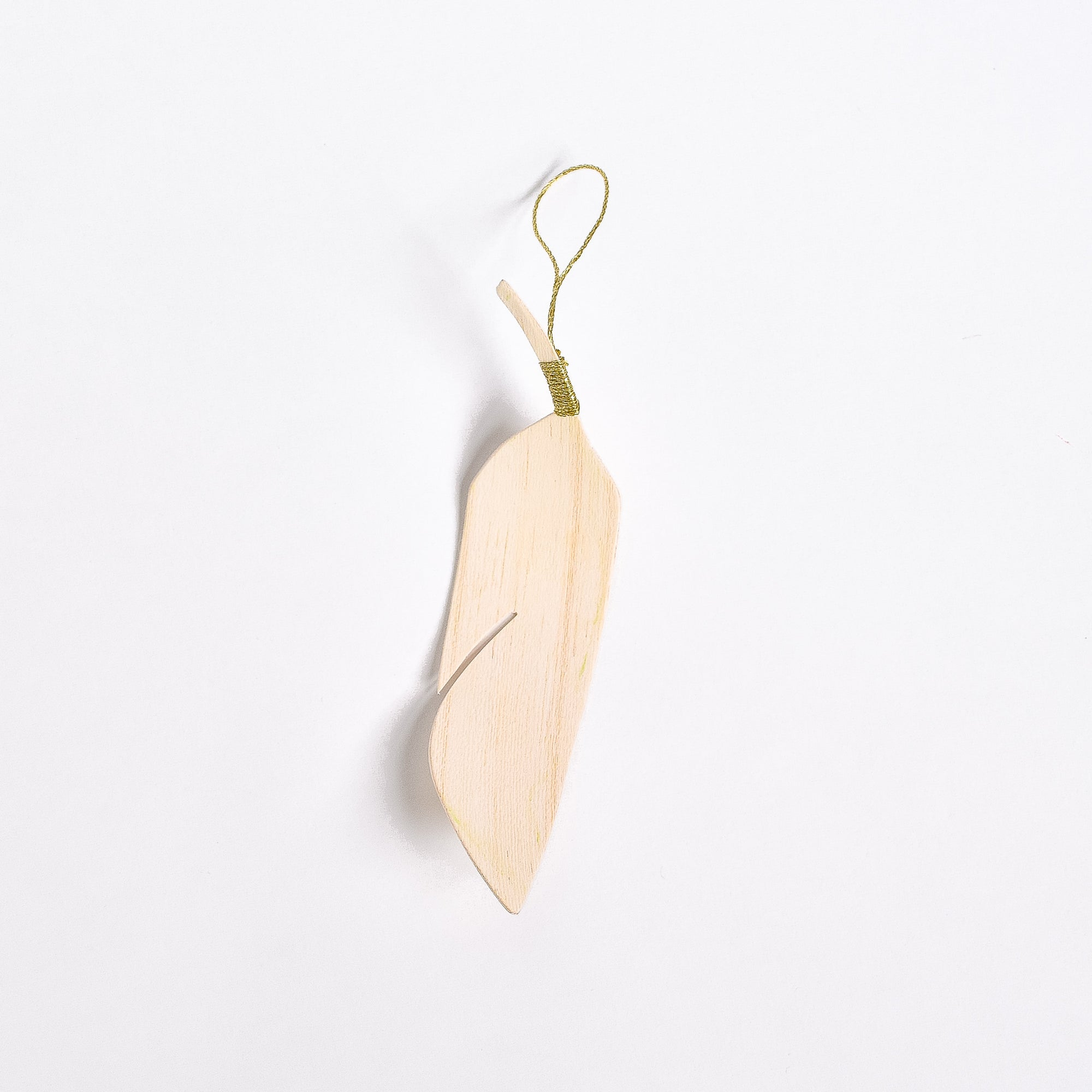 Wooden Feather Ornament - Rug & Weave