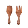 Olive wood Fork & Spoon Spade Salad Set