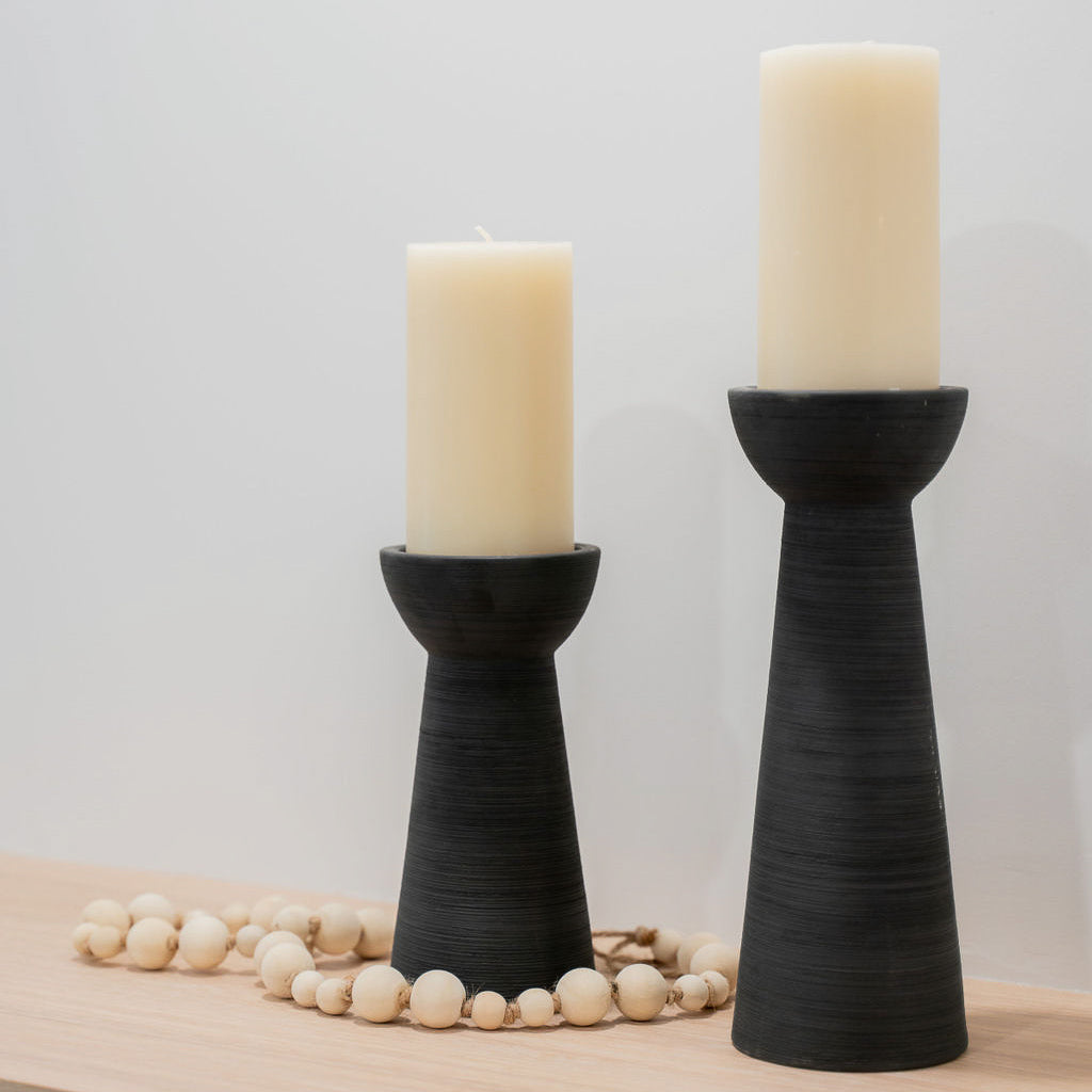 Grey Candle Holder w/ Candle