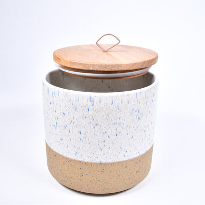 Dipped Stone Canister - Cream