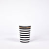 Gold & Black Striped Ceramic Cup