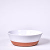 White Ceramic Terracotta Salad Bowl 10""