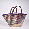 Colourful Woven Straw Baskets
