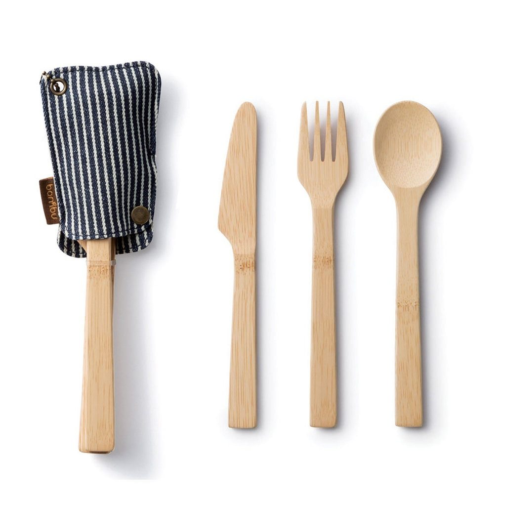 Cotton Sleeve - Bamboo Utensil Travel Set - Rug & Weave