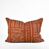 Rust Mudcloth Pillow