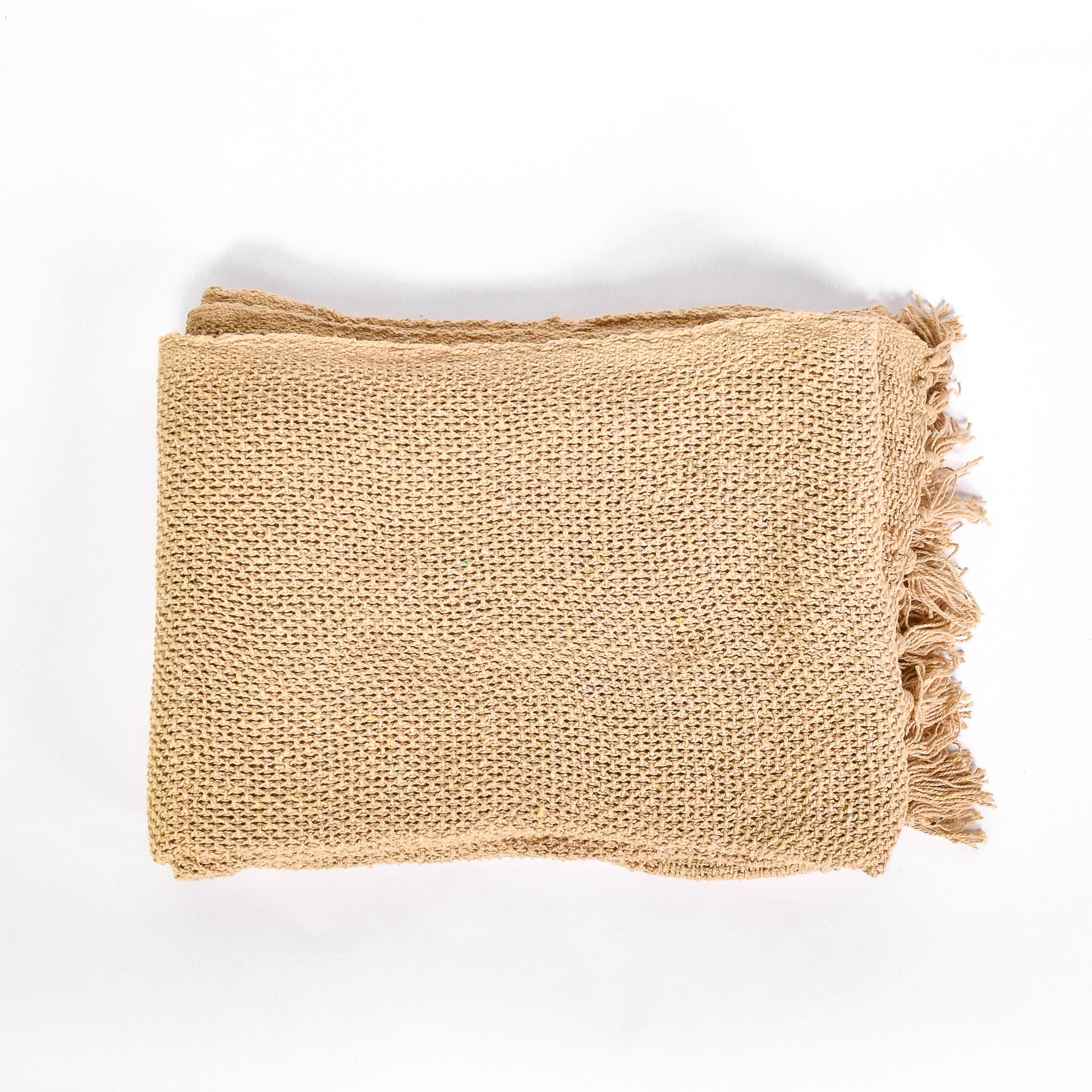 Mustard Throw - Rug & Weave