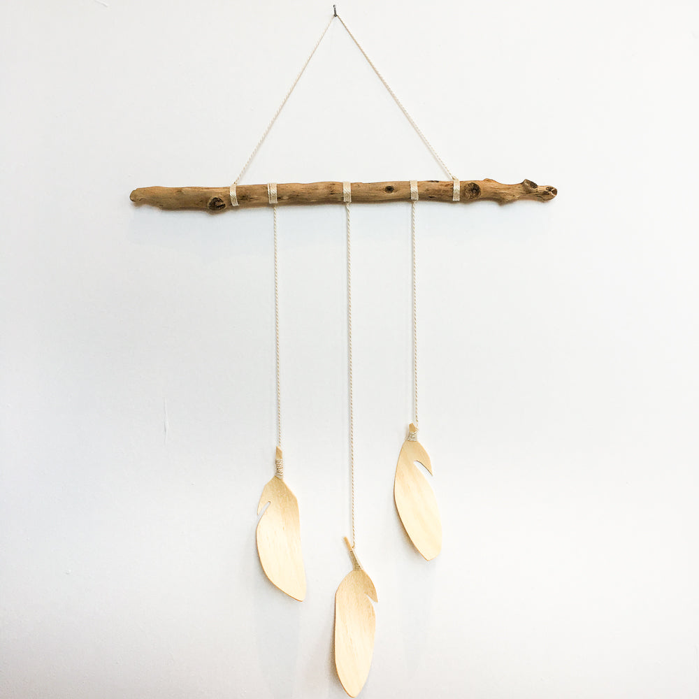 3 Feather Wall Hanging - Rug & Weave
