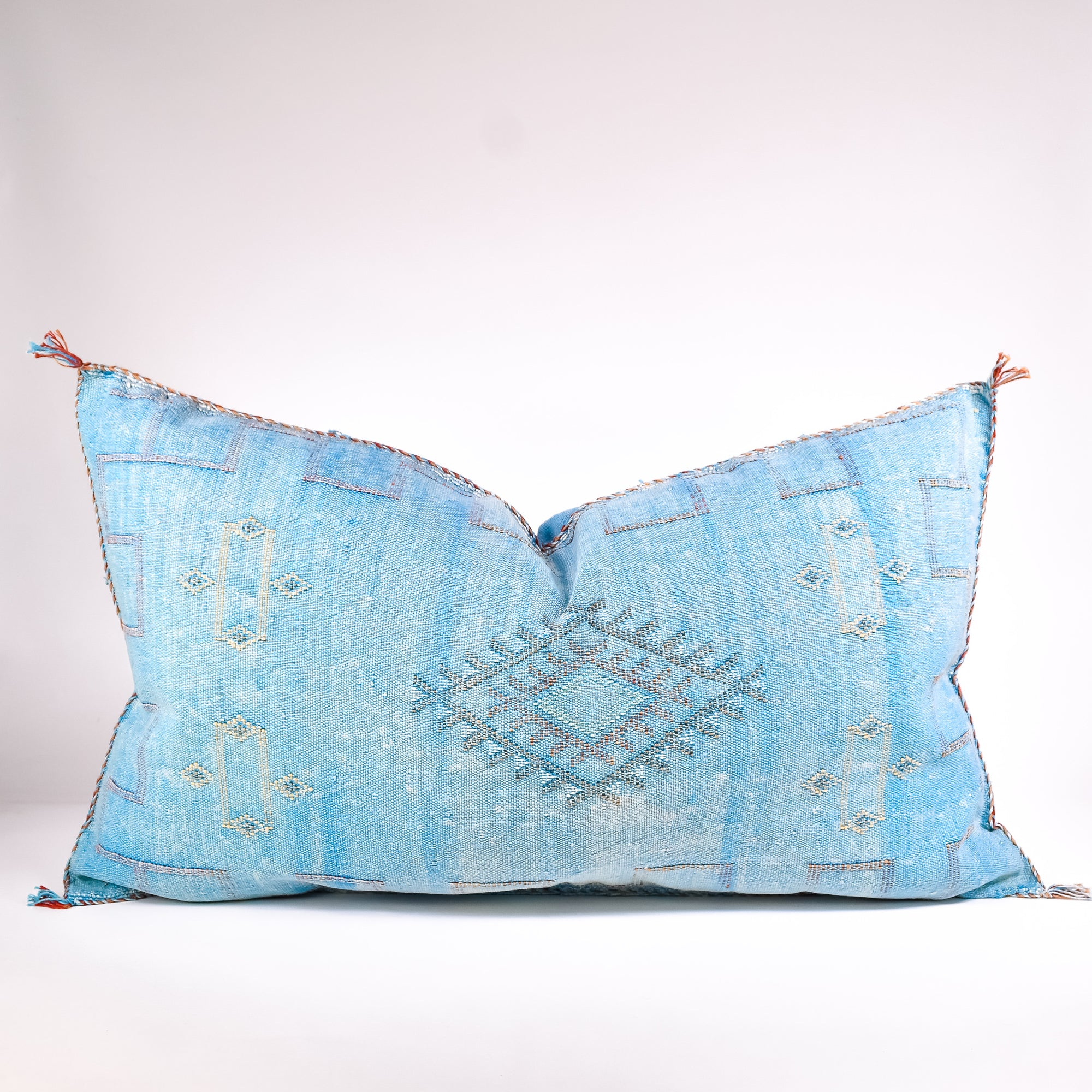 Blue Sabra Silk Pillows - Rug & Weave