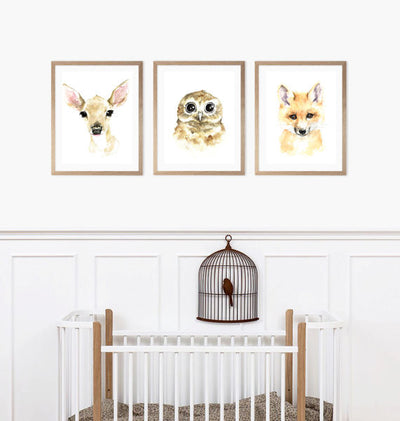 Baby Fawn Watercolour Print - Rug & Weave - 3