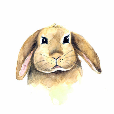 Bunny Watercolour Print - Rug & Weave - 2