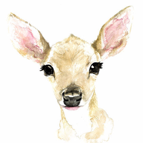 Baby Fawn Watercolour Print - Rug & Weave - 2