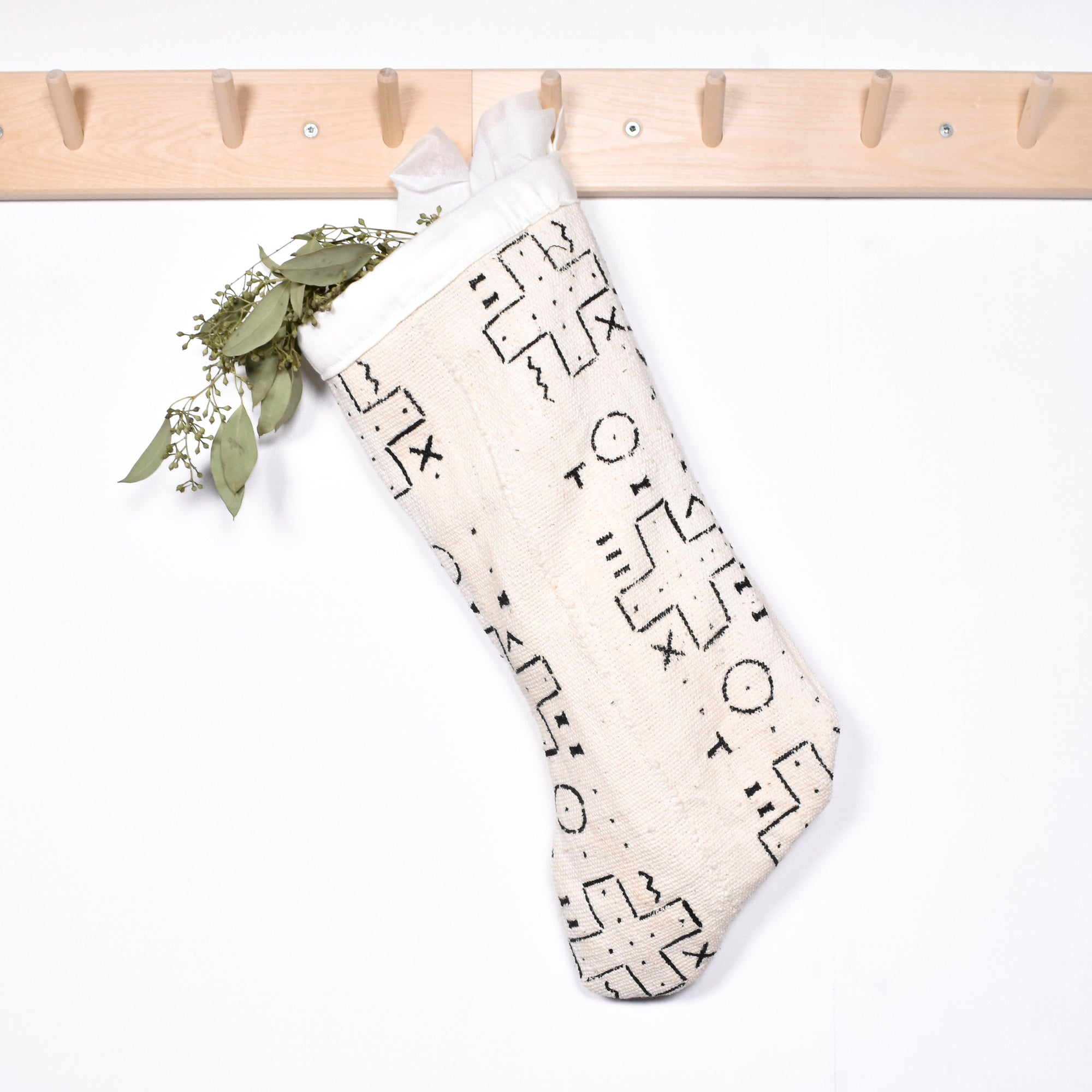Mudcloth Holiday Stocking - Rug & Weave