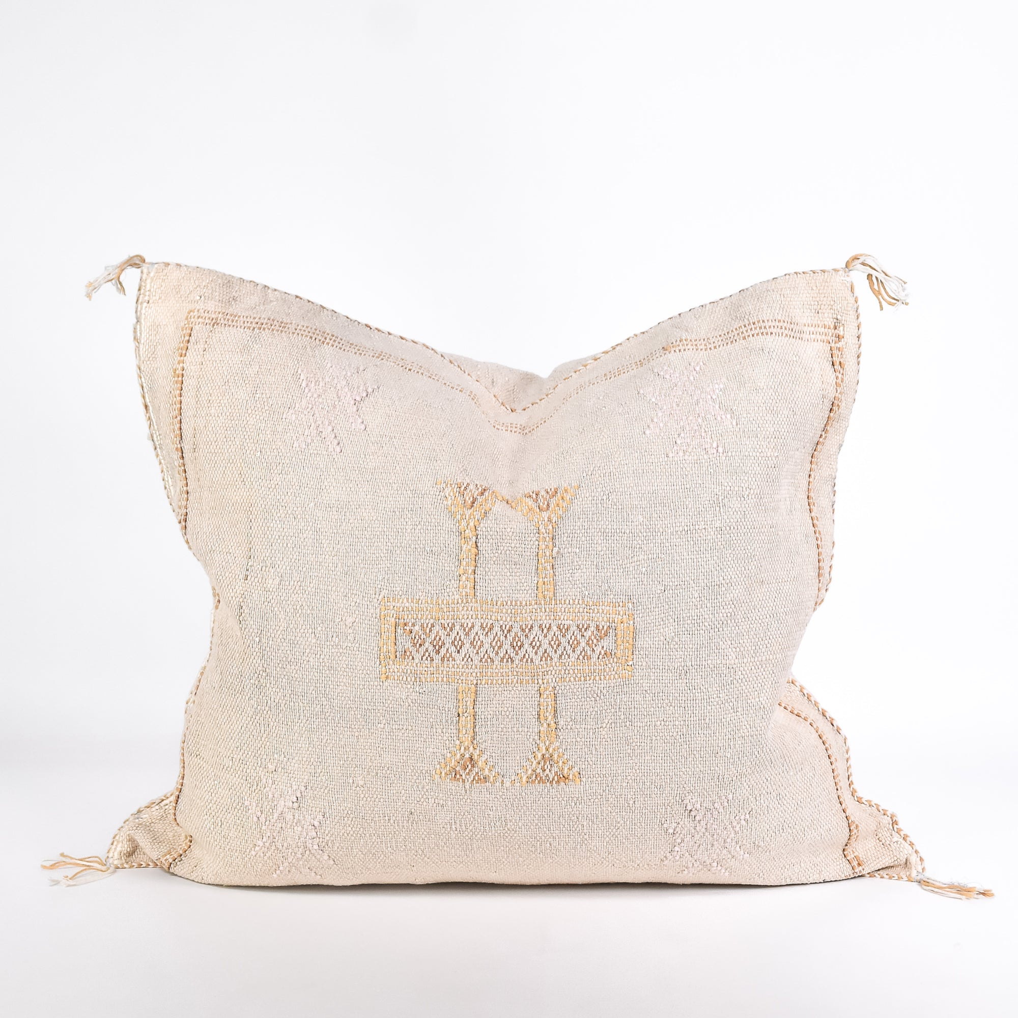 Grey Sabra Silk Pillow