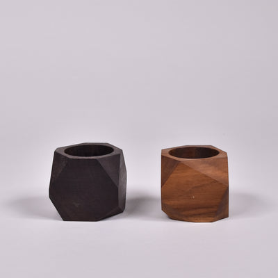 Geometric Wood Holders - Rug & Weave