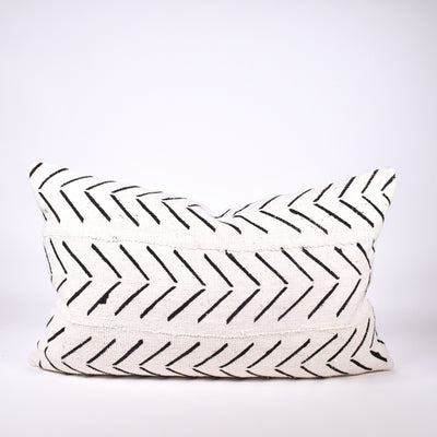 White Mudcloth Pillow - Rug & Weave