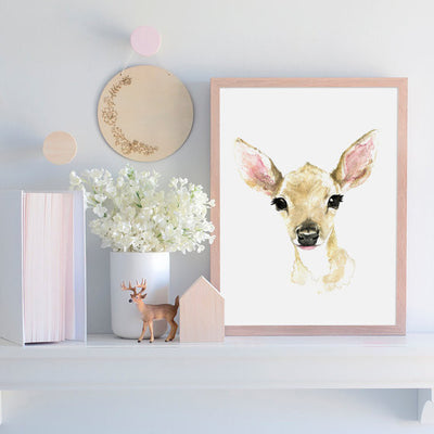 Baby Fawn Watercolour Print - Rug & Weave - 1