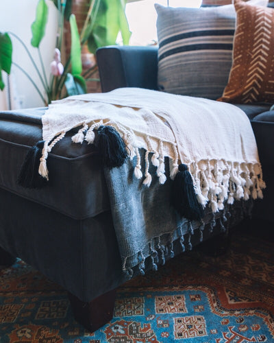 Basket Tassel Throw