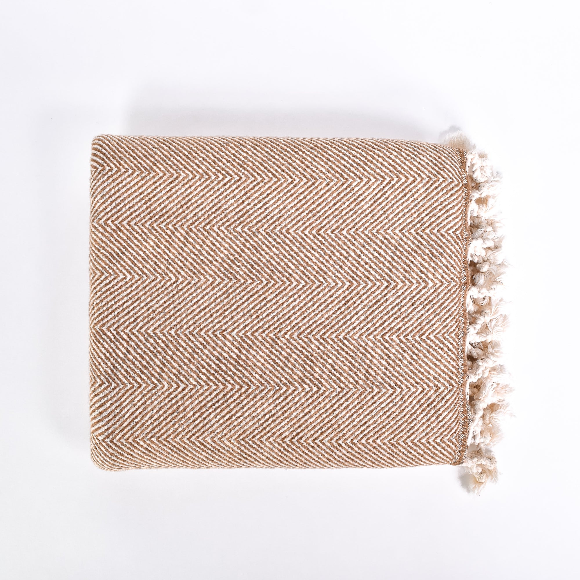 Cinnamon Herringbone Throw - Rug & Weave