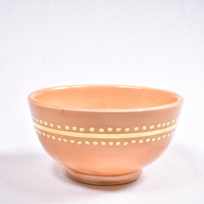 Medium Gold Caftan Ceramic Bowl - Rug & Weave