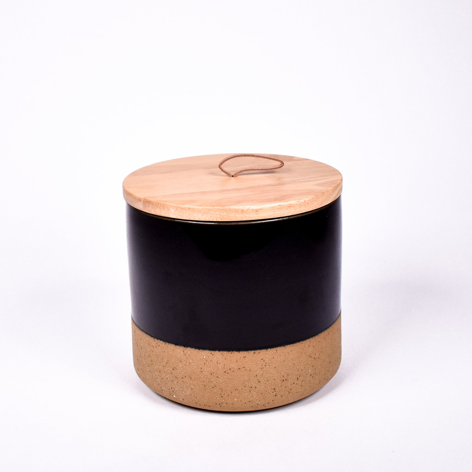 Dipped Stone Canister - Black - Rug & Weave