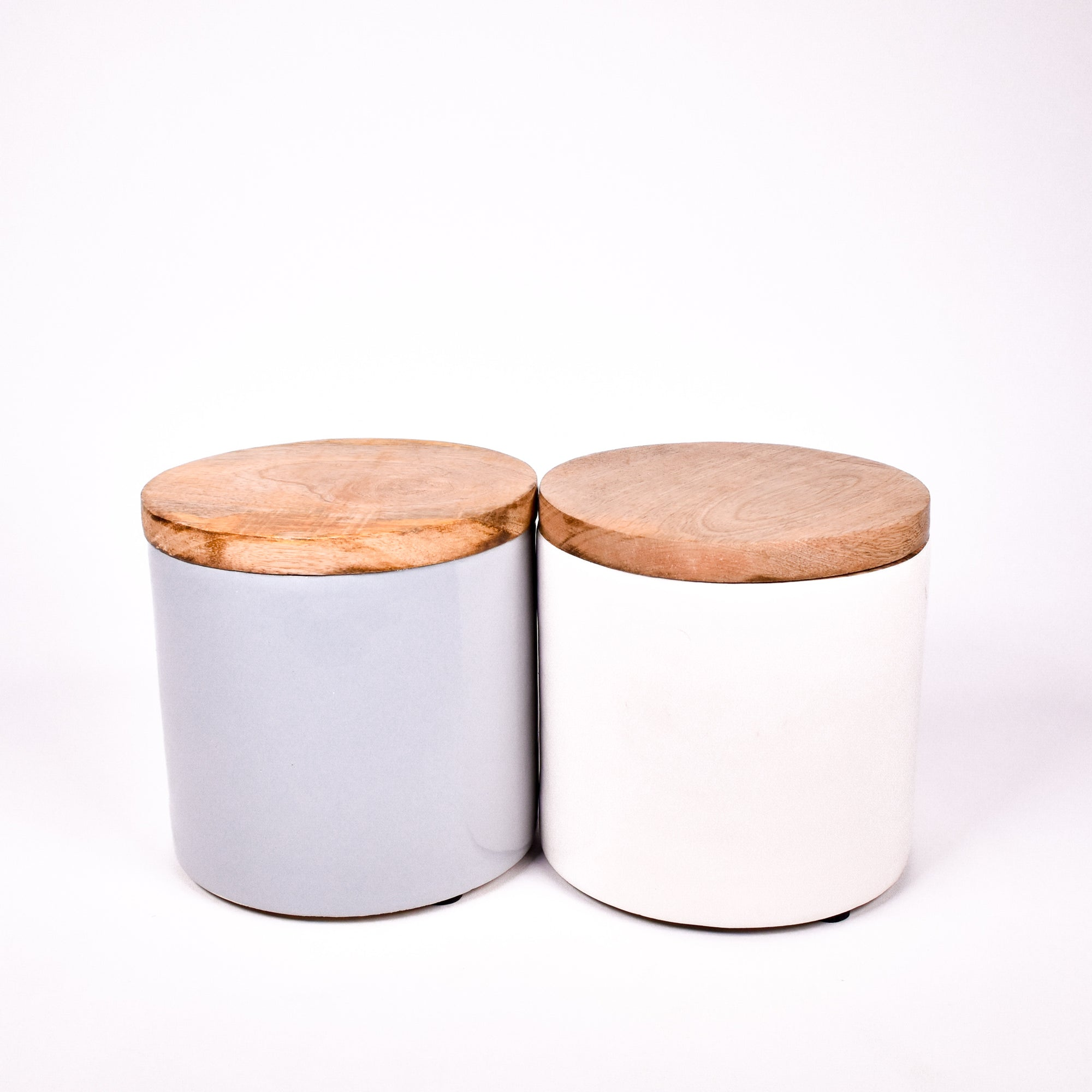 Wooden Lid Canister