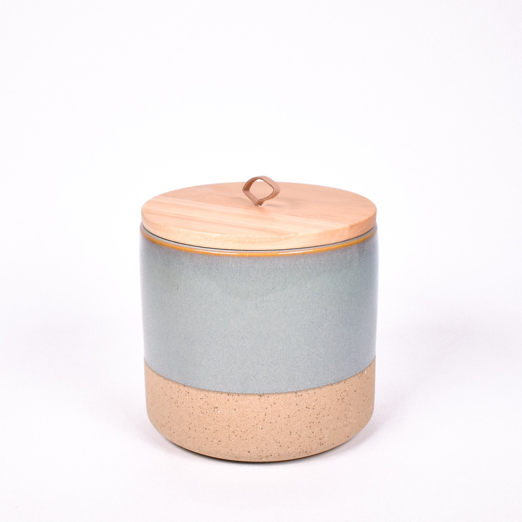 Dipped Stone Canister - Teal