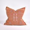 Rust Sabra Silk Pillow - Rug & Weave