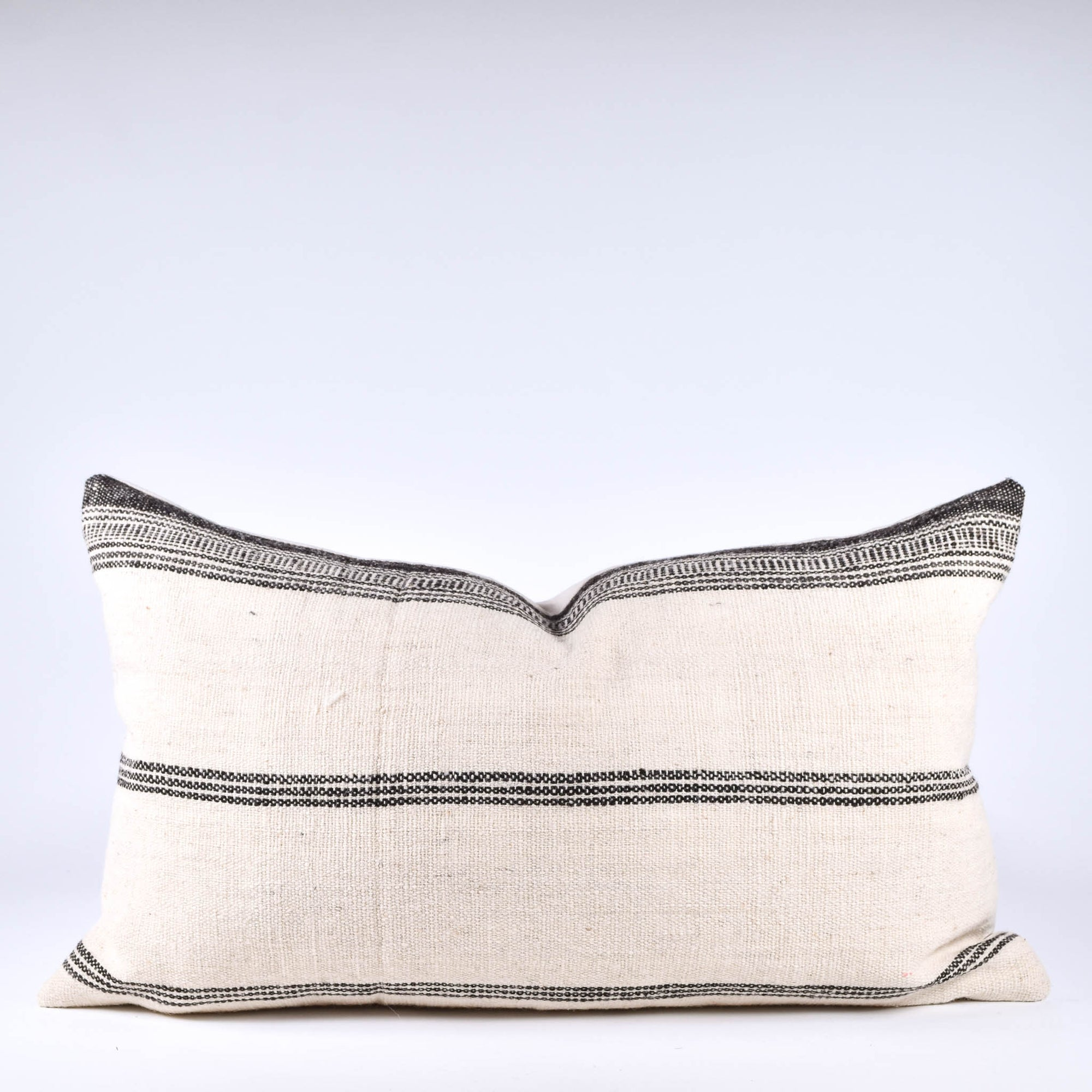 Cream & Charcoal Bhujodi Pillow - Rug & Weave