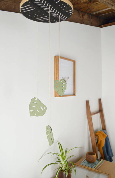 Monstera Mudcloth Mobile