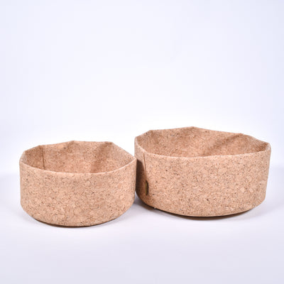 "Cork Fabric Bowl - 8"" - Rug & Weave"