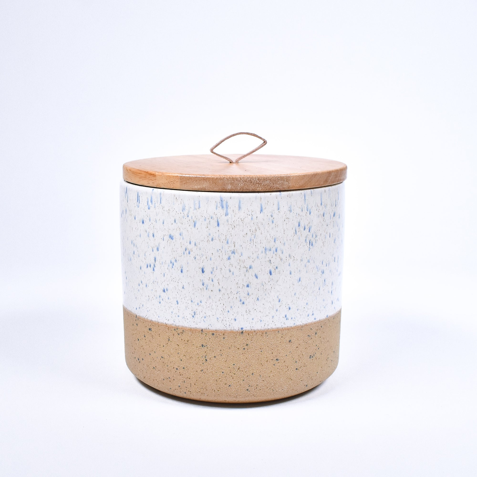 Dipped Stone Canister - Cream - Rug & Weave