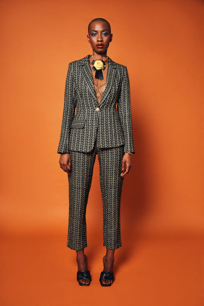 aŠady Tweed Asymmetrical Suit