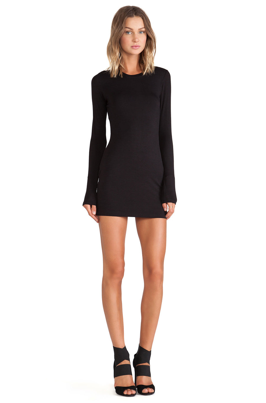 Sleek Sleeve Mini Dress