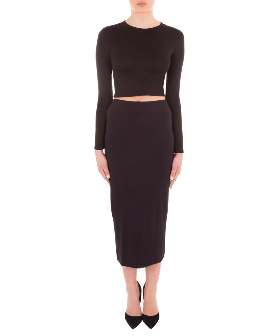 Back-Me-Up Midi Slit Skirt