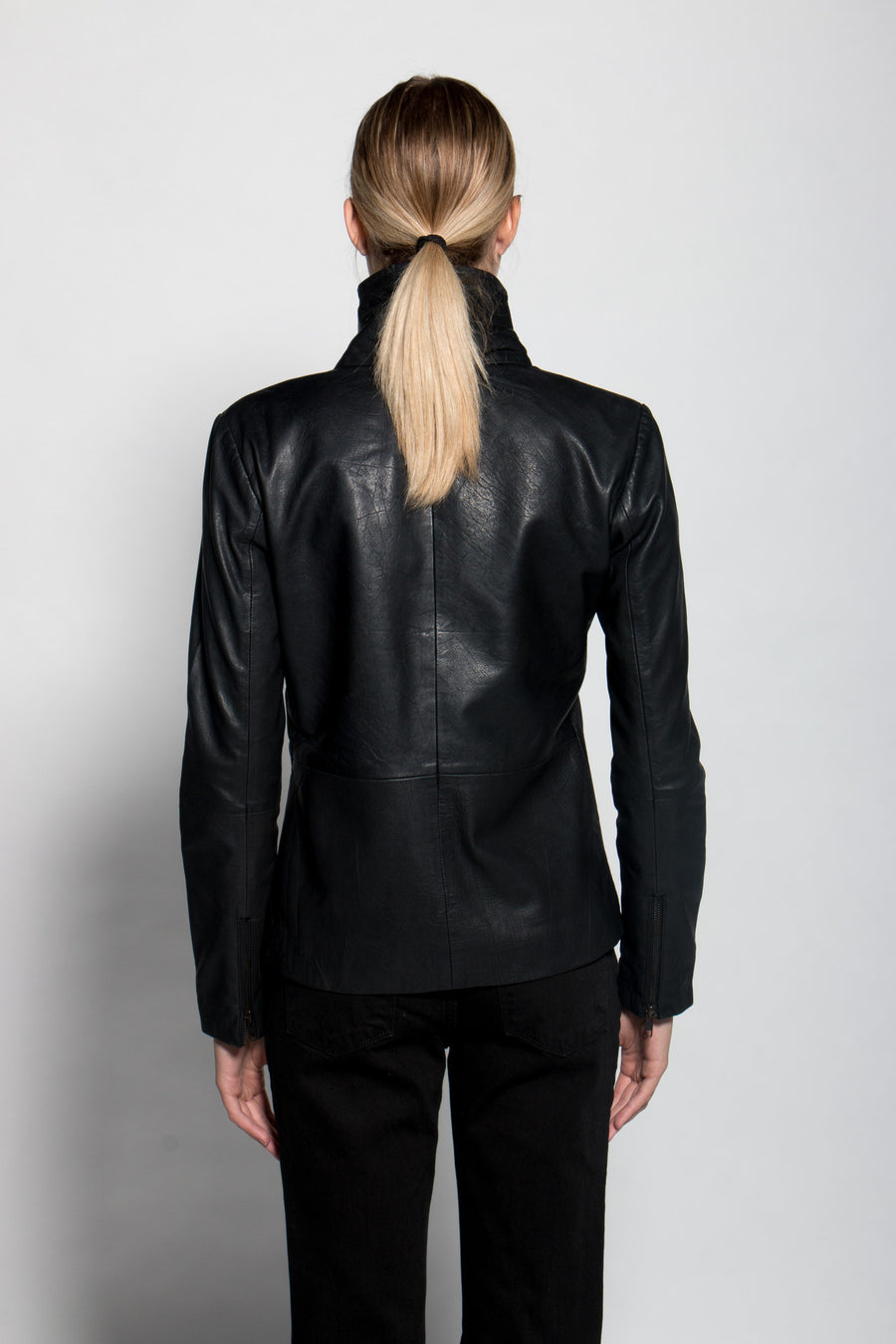 Draped Up Leather Jacket